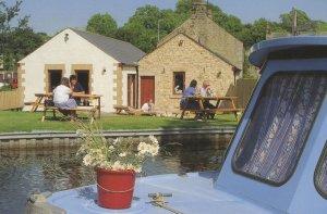 Canalside Craft Centre Galgate Lancaster Canal Postcard