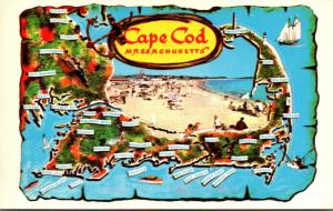Massachusetts Cape Cod Map