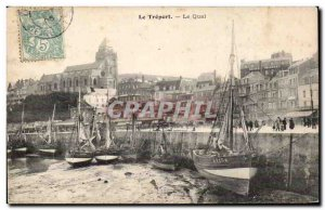 Le Treport - Le Quai - Old Postcard
