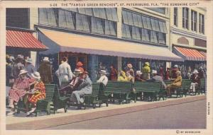 Florida Saint Petersburg The Famous Green Benches 1942