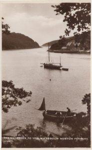 Yealm Harbour Newton Ferrers Devon Real Photo Postcard