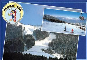 Italy Panarotta Ufficio Operativo Skiers Charlift Winter Panorama