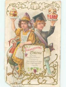 Pre-Linen Thanksgiving KIDS HOLDING UP DESSERTS AB4306