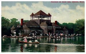 Michigan  Detroit ,Pavilion on Belle Isle