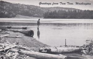 SPOKANE, Washington, 1940-1960's; Fishing, Long Lake Resort At Tum Tum