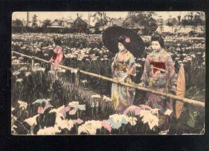 040603 Japan Geisha girls & flowers Vintage tinted