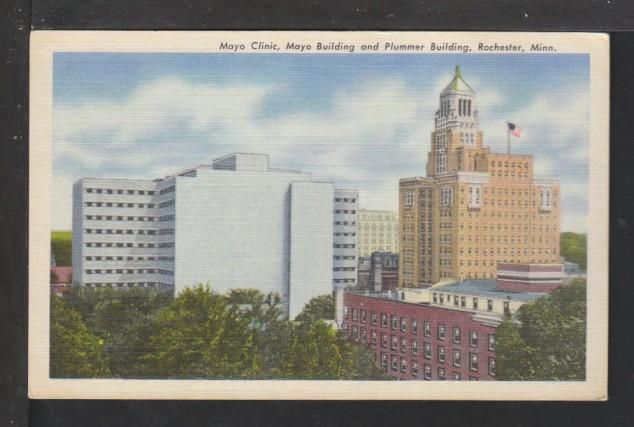Mayo Clinic,Mayo & Plummer Buildings,Rochester,MN Postcard