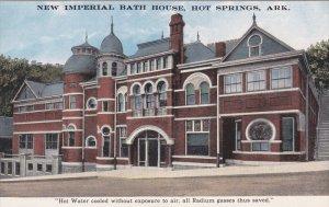 HOT SPRINGS, Arkansas, 1900-1910's; New Imperial Bath House