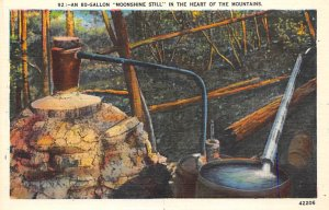 Brewery Post Card An 80 gallon Moonshine Still in the heart of th...
