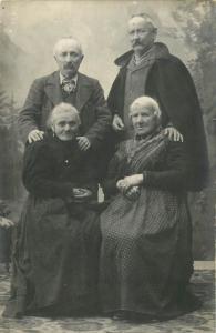 Italy Ubermor Social history Photo Postcard peasant old couples cartolina