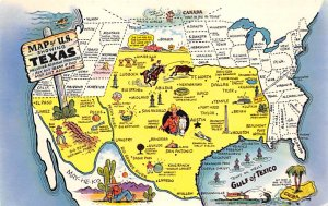 Maps Texas USA 1960 Missing Stamp