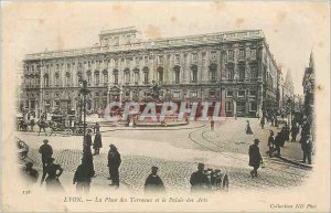 Old Postcard Lyon Bellecour Square and the Palace of Arts