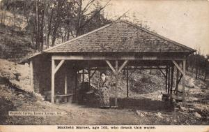 Eurkeka Springs AR~Maxfield Barber Now Age 102~Drank Magnetic Spring Water~1912