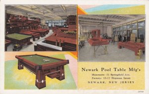 New Jersey Newark Pool Table Manufacturing Company Curteich sk222