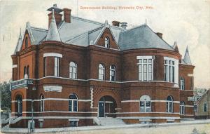 Vintage Postcard Government Building Nebraska City NE Otoe County