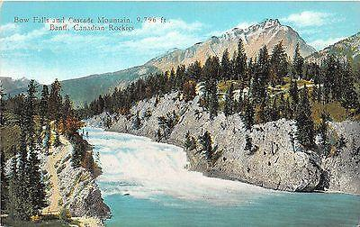 B92077 bow falls and cascade montain banff canadian rocki...