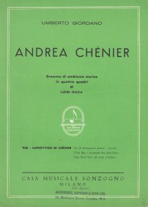 Umberto Giordano Andrea Chenier Classical Sheet Music