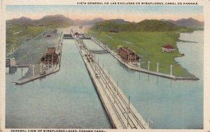 PANAMA, 1900-1910s; General View Of Miraflores Locks