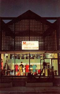 Matamoros Tamp Mexico Myrtas Dress Shop Exterior Vintage Postcard K91535