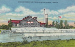 Florida Clewiston Sugar House In The Everglades Curteich sk1486a