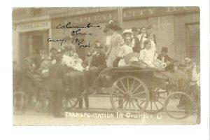 Columbus OHIO RP 1910 STREETCAR STRIKE Trolley LABOR UNREST Union? Boycott #2