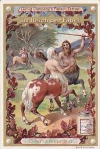 Liebig Vintage Trade Card S0472 Greek Mythology 1896 Centauren