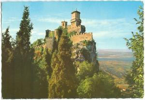 Repubblica di S. Marino, La Prima Torre, The first Tower, unused Postcard