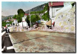 Modern Postcard Menton M the Italian Border