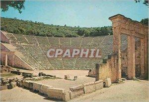 Modern Postcard The Epidaurus Theater with parodoi and Scene