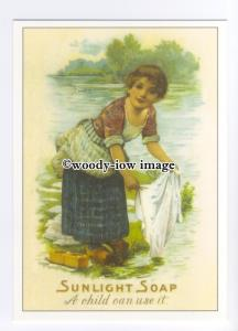 ad0745 - Sunlight Soap - A Child Can Use It -  Modern Advert Postcard