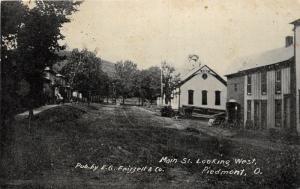 F11/ Piedmont Ohio Postcard Harrison County 1919 Main Street Store 2