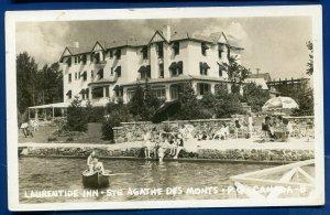 Laurentide Inn Ste Agathe Des Monts Quebec Canada Real Photo Postcard