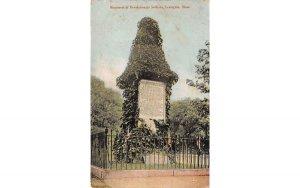 Monument of Revolutionary Soldiers Lexington, Massachusetts Postcard