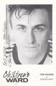 Tom Higgins as Keiran Gallagher Childrens Ward TV Show Vintage Signed Cast Card