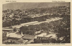 venezuela, CARACAS, Estacion del Ferrocarril de la Guaira, Railway Station 1926