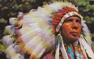 Indian Chief Seneca Indian Reservation Salamanca New York 1970