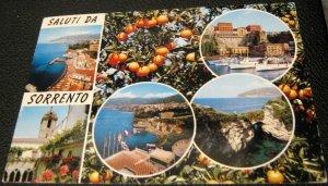 Italy Sorrento Saluti Da Natural Colours - used 1970