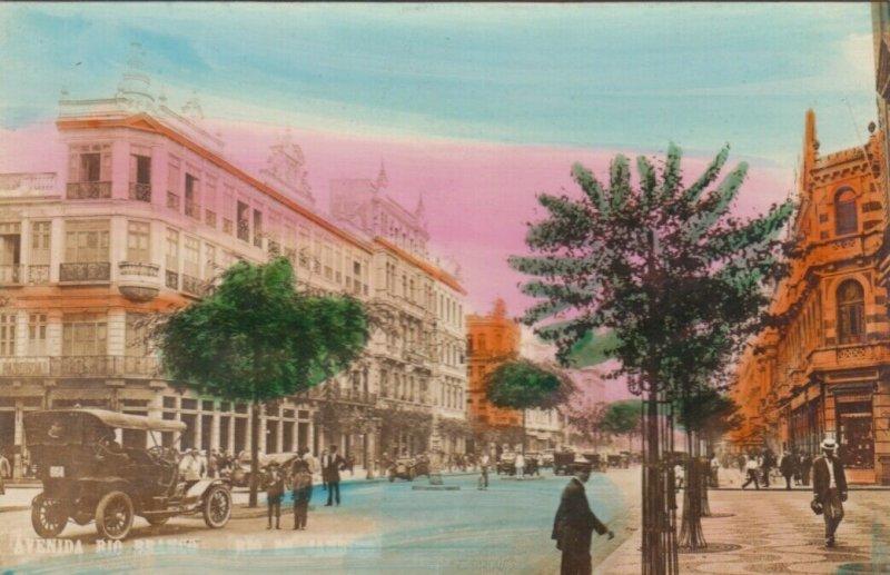 RP: RIO DE JANEIRO , Brazil , 1910s ; Avenida Rio Branco