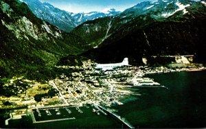 Alaska Clipper Over Juneau