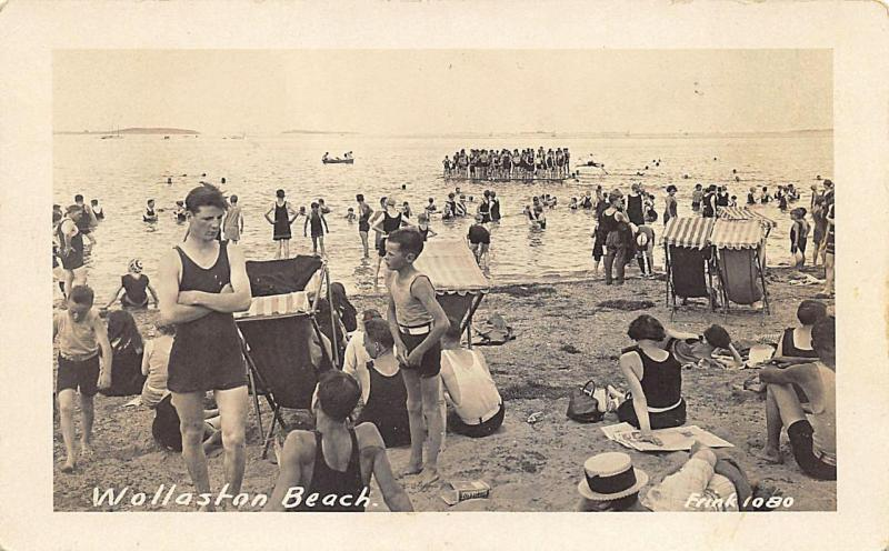 Wollaston MA Beach Bathing Suits Float RPPC