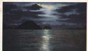 Moonlight Night, Resurrection Bay, ALASKA, 1910-1920s