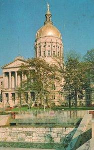 Atlanta, GA, State Capitol, Garden & Waterfall, 1979 Chrome Postcard g8364