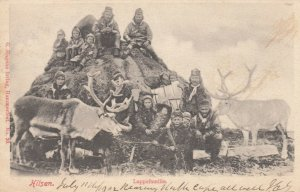 HILSEN. , Norway, 1902 ; Lappefamilie