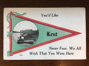 Kent, CT - People and Horses Standing in Boats at Shore Pennant Postcard d9