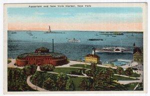 New York, Aquarium And New York Harbor