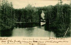 NY - Adirondacks. Outlet of Blue Mountain Lake