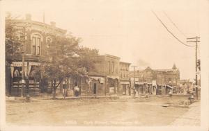Stanberry Missouri~Park Street~Bakery~Store w/ Cider Barrel~Harvey's~c1908 RPPC