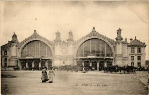 37 CPA TOURS La gare