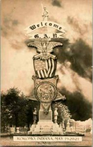 Vtg 1908 Véritable Photo Carte Postale Cppr Gar Grand Army Of L Republic Reunion