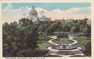 Minnesota Saint Paul State Capitol and Central Park